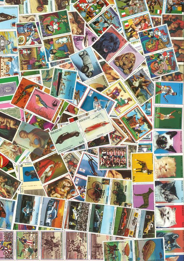 Známky Paraguay balíček 250 ks MINT
