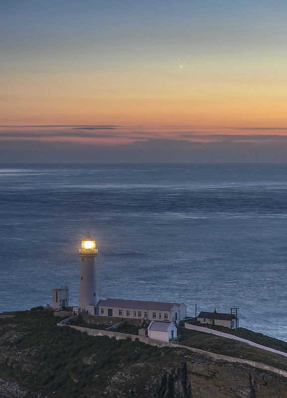'Venus/Jupiter Conjunction' - South Stack, Anglesey