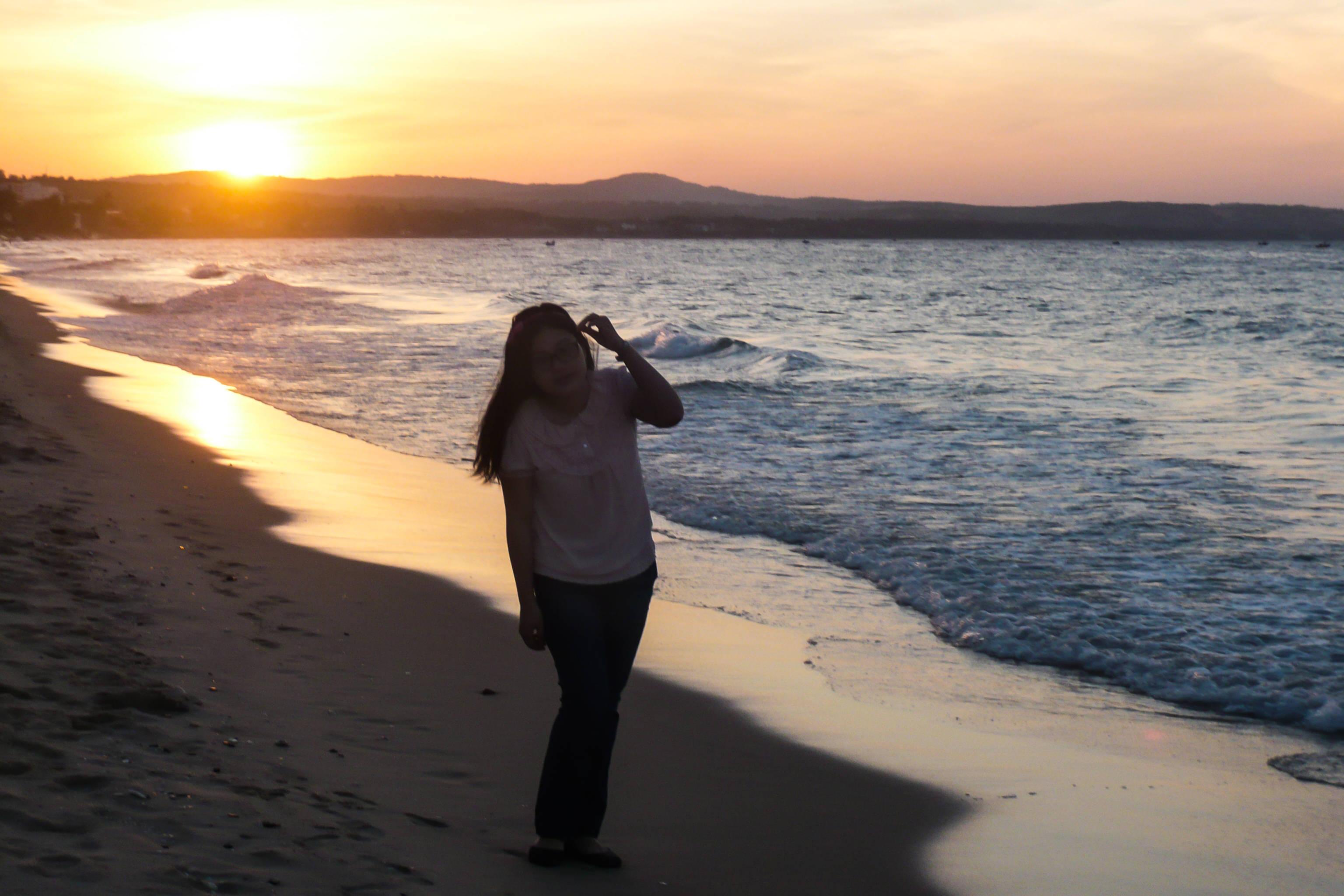 Sunrise at Phan Thiet sea