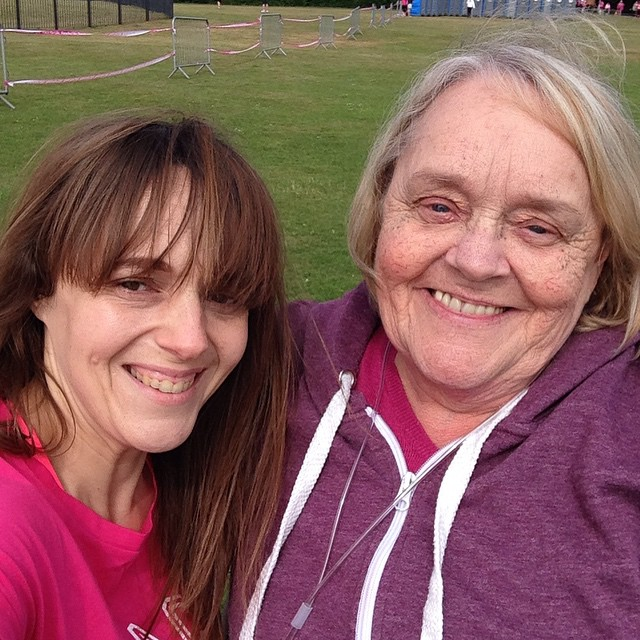 Mum and I at Race for Life! #raceforlife #cruk #poolepark #poole