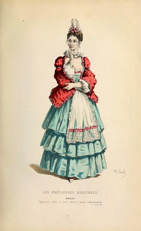 003-Las preciosas ridiculas -Oeuvres completes ornee de portraits en pied colories…1871- Moliere