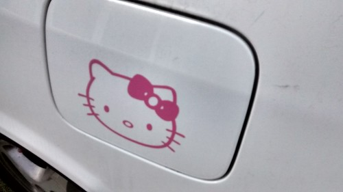 Hello kitty car sticker | by phonakins