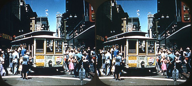 Terms Of Use >> San Francisco - Powell St cable car | From a 1954 Viewmaster… | Flickr