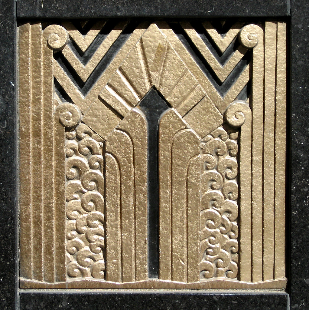 Art deco ornament art deco ornamentation in the door for What is art deco