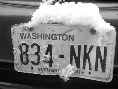 Our liscense plate w/snow | by ElementaryPenguin