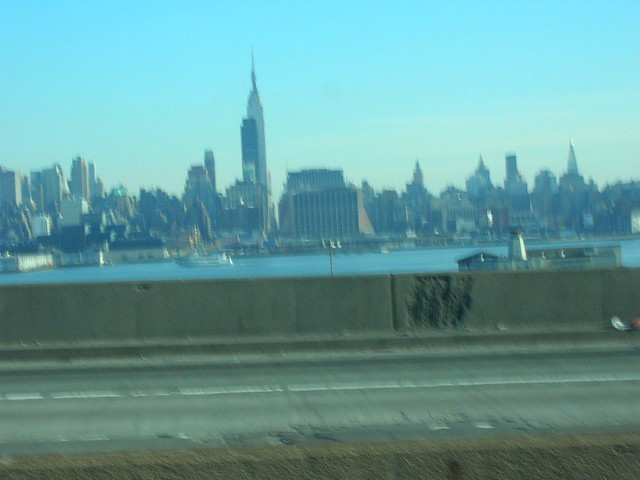 Nyc skyline from nj on the way back from ikea in for Elizabeth new jersey ikea