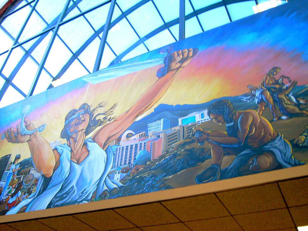 County Building Murals Blind Justice Information