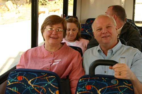 Jane and Bill on the way back from Hoover Dam | by jennyology