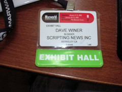 My MacWorld Expo badge | by scriptingnews