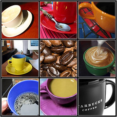 colorful coffee composition | by once and future