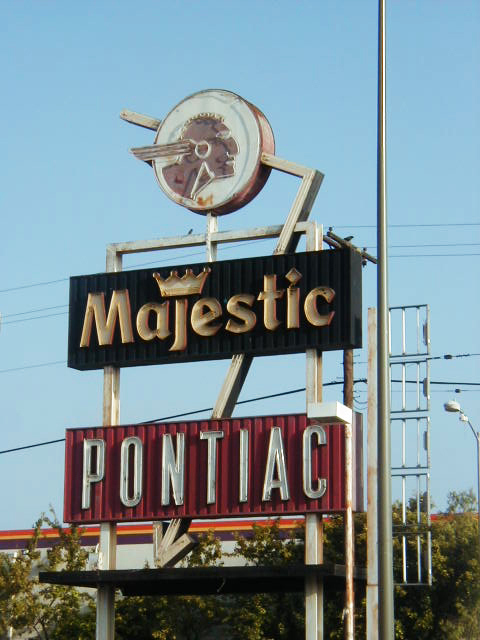 Majestic Pontiac Neon Sign | Formerly located on Crenshaw ...