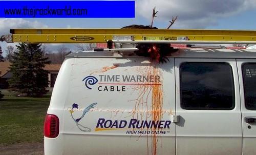 time warner road runner cable van kills turkey | Jared ... Time Warner Cable