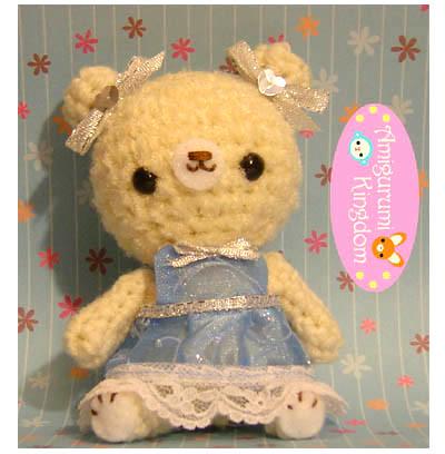 Amigurumi Prinzessin Blog : Amigurumi Bear Snow Princess This is a beautiful snow ...