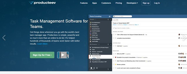 Task Management Software Producteev by Jive