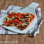 Pizza mit Blumenkohlboden - cauliflower crust