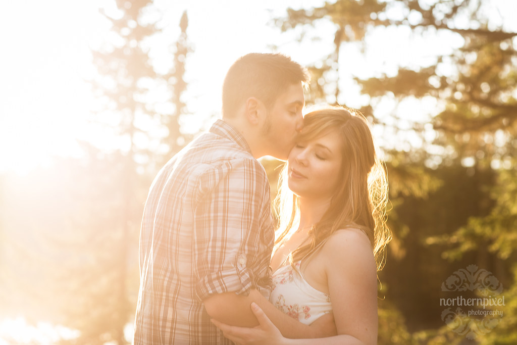 Engagement Session Sunflare - Prince George BC