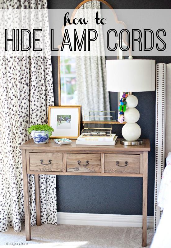 hi sugarplum project rewind how to hide lamp cords. Black Bedroom Furniture Sets. Home Design Ideas