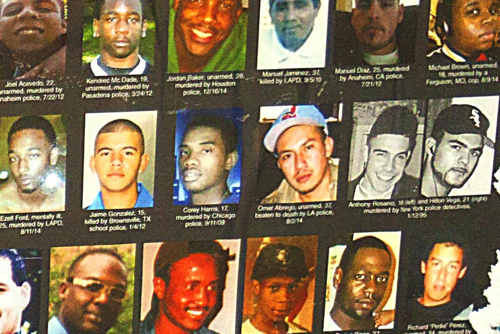 STOP MURDER BY POLICE--Italian Market (detail 2)