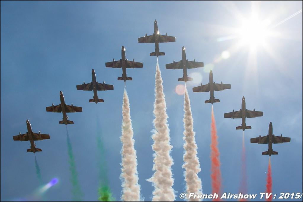 Frecce Tricolori ,patrouille acrobatique officielle de l'armée de l'air italienne ,Pattuglia Acrobatica Nazionale (PAN) Frecce Tricolori, BA-116 Luxeuil 2016 , Meeting de l'air luxeuil, Meeting Aerien 2015