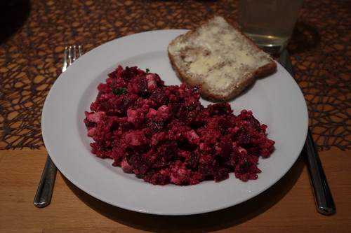 Rote Bete – Graupen – Schafskäse – Salat (2. Tag)
