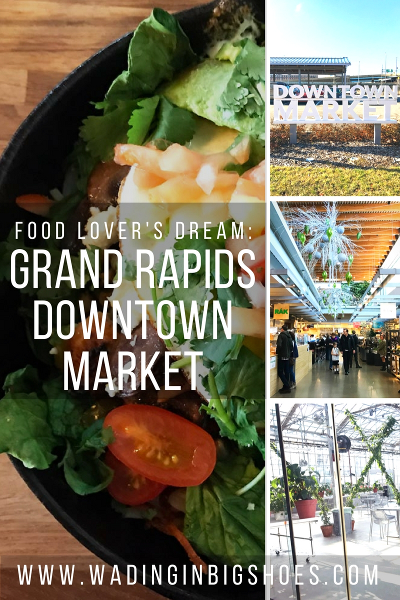 Food Lover's Dream: Explore Grand Rapids' Downtown Market | Grand Rapids Downtown Market is a multipurpose facility that celebrates Michigan's food and farming culture through local food production, education, entrepreneur opportunities, and more. Click through to learn about the market, special events, and great eateries like Social Kitchen, Slow's Bar-BQ, Love's Ice Cream, Sweetie-licious Bake Shoppe, and Madcap Coffee! | via Wading in Big Shoes
