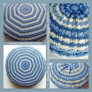 BLUE SKIES Circular Crochet Cushion (2) | by waterdragonsag