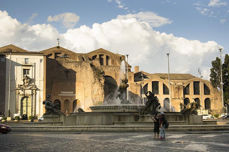 Roma - Piazza della Repubblica, Fontana delle Naiadi