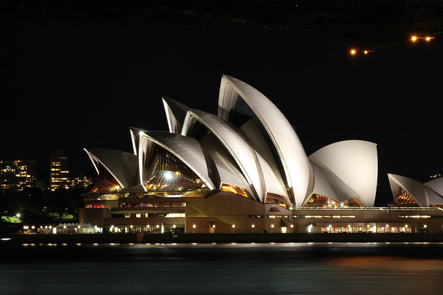 Sydney's Opera House by night