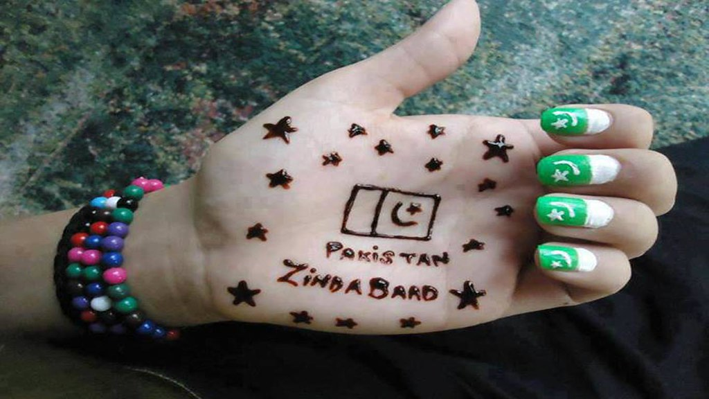 Pakistan ZindaBaad Girls Mehndi Hand Nails HD Wallpaper - …   Flickr