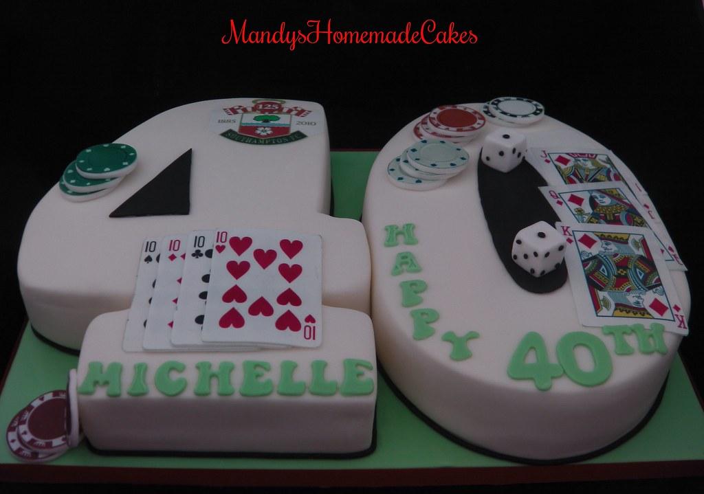 Number 40 Forty Shaped Birthday Celebration Cake Casino Flickr