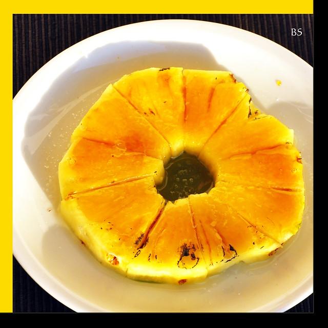 Dessert: Ananas, karamellisiert - Haushaltsbrenner, Butangasbrenner ... Foto: Brigitte Stolle, Mannheim 2017