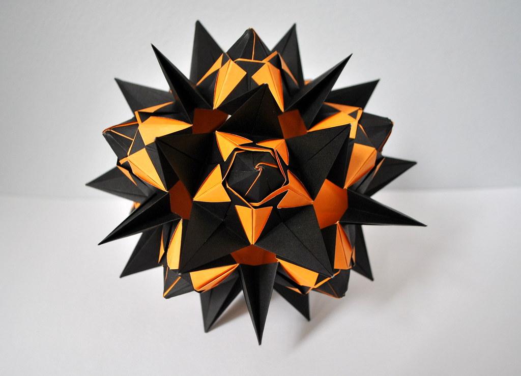 Mandarin Kusudama Mandarin Model From Kusudama Origami By Flickr