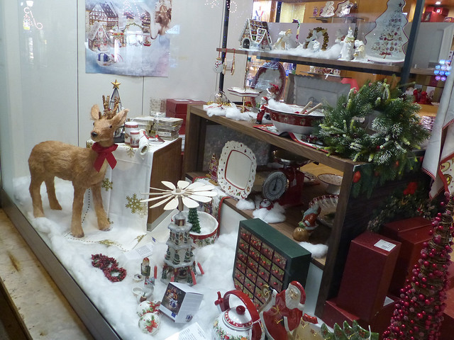 vitrine de Noël Gènes