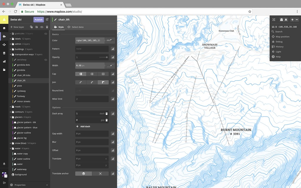 Ski maps for travel apps – Travel Map Software