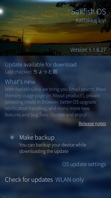 Sailfish OS v1.1.6.27