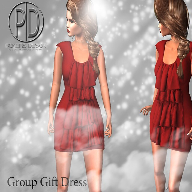 [POWERS]Group Gift Frill Dress