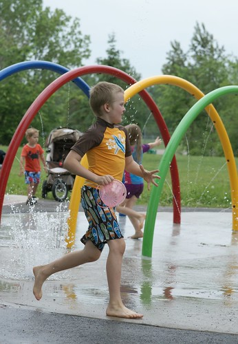 At the splash pad