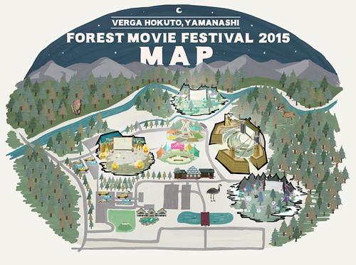 「夜空と交差する森の映画祭2015」マップ