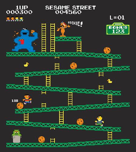 Donkey Kong mash-ups by BazNet - Sesame Street