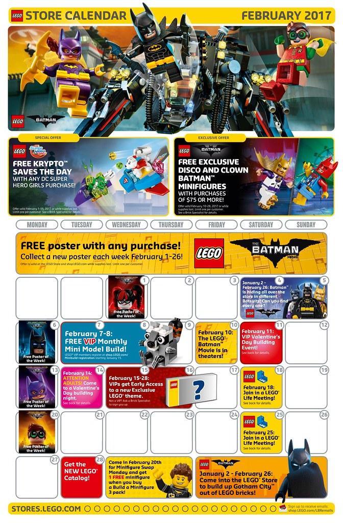 Calendar Lego June : February lego store calendar read more here