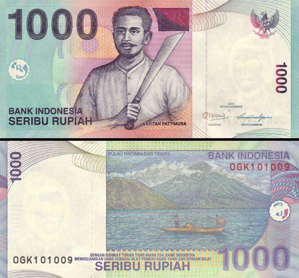 1000 Rupií Indonézia 2012, P141l