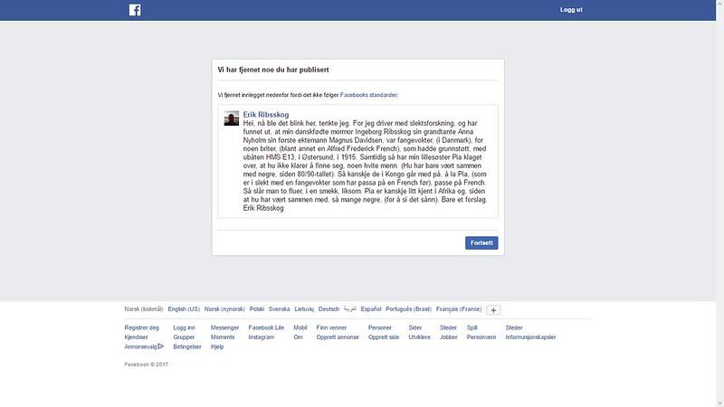facebook sensurerer