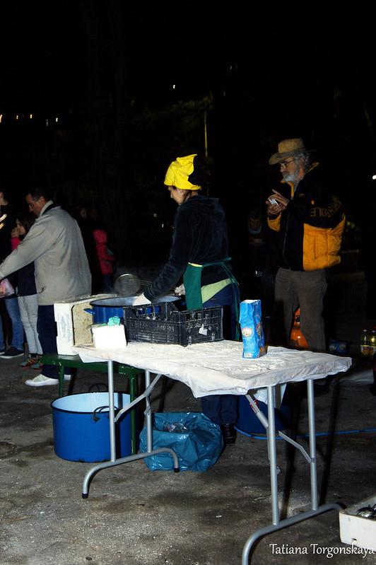 Приготовление рыбы на фестивале
