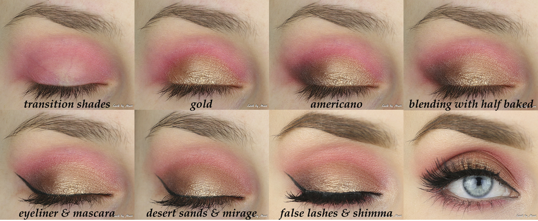5 bold colorful eye makeup ideas tutorial makeup geek americano desert sands gold half baked