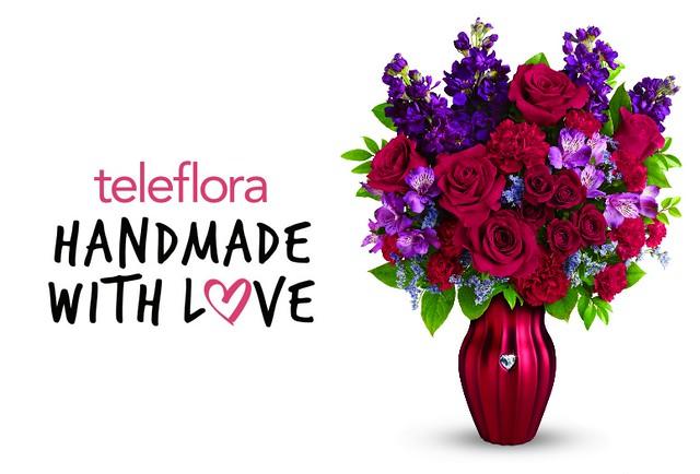 teleflora handmade with love valentine's day bouquet