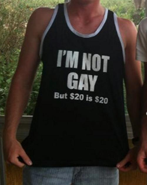 imagen graciosa de camiseta gay 20