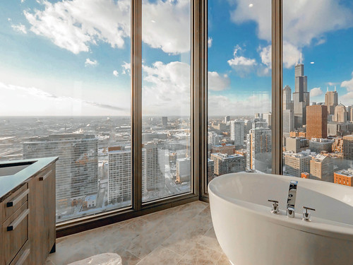 View from the penthouse master bath at 1001 South State