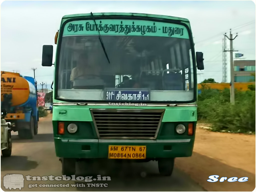 TN-67N-0864 of Sivakasi Depot Sivakasi Madurai 1 to 1 Nonstop