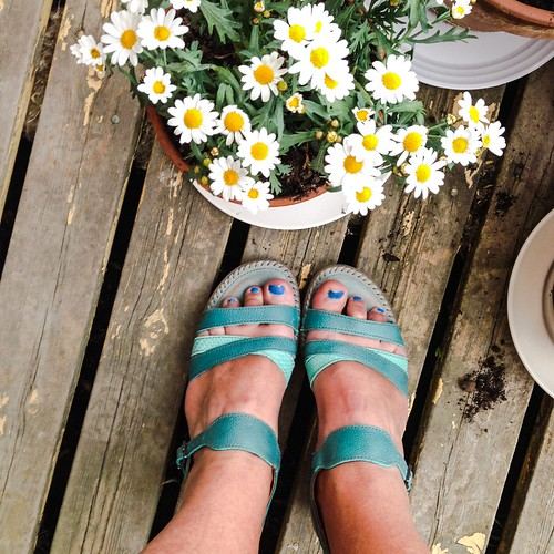 the blue ART sandals of 2015