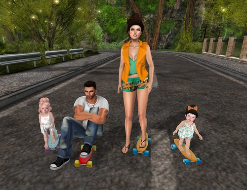 Riley, Takeo, Lolita and Payton Oleander